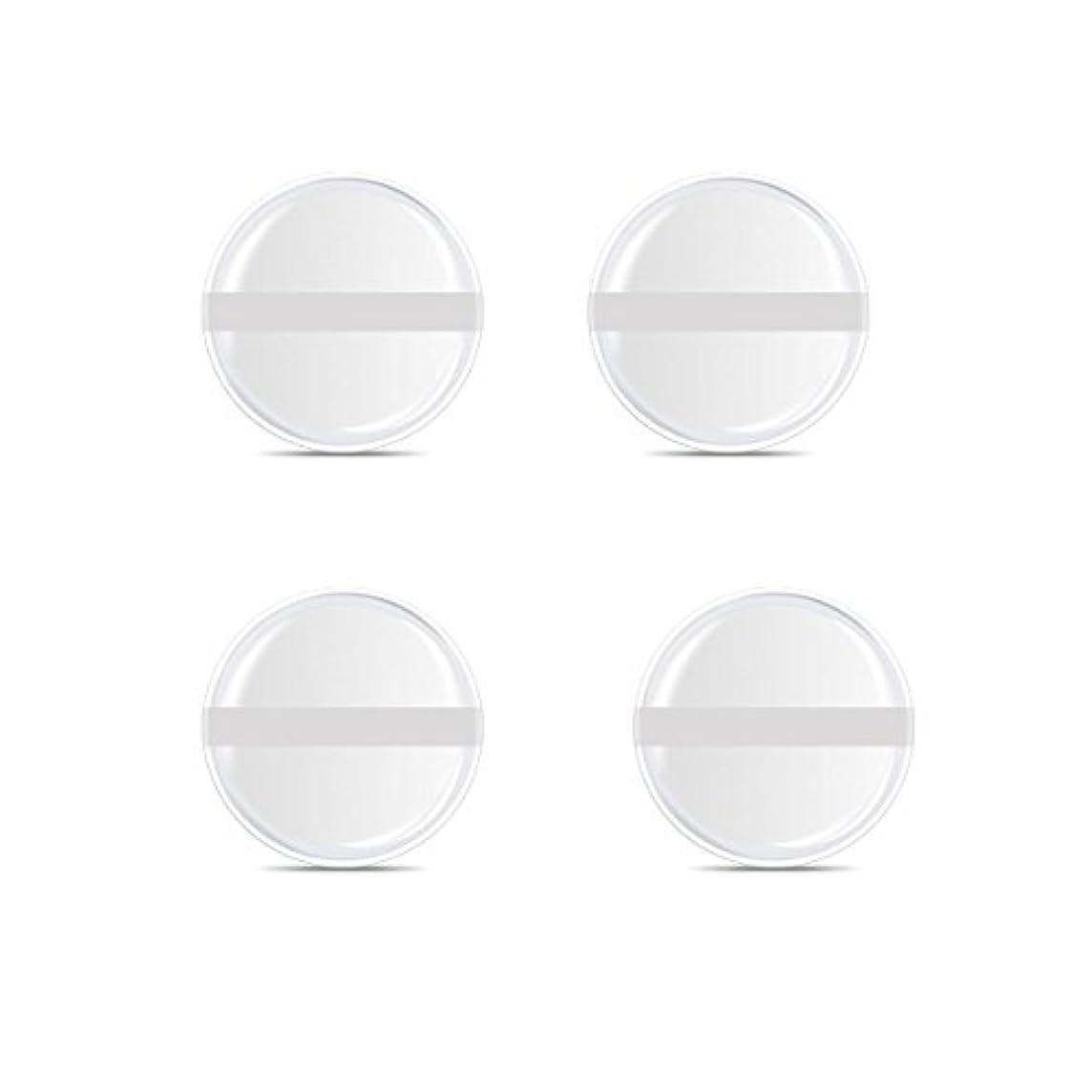 中に請求書アジアシリコンパフ 帯付き メイクスポンジ ゲルパフ ゼリーパフ 清潔しやすい衛生 柔らかく 透明な 4枚入 (円形 4入り)