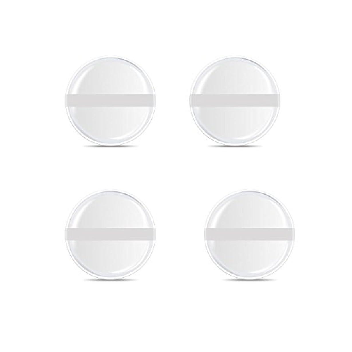 してはいけません密接に太字シリコンパフ 帯付き メイクスポンジ ゲルパフ ゼリーパフ 清潔しやすい衛生 柔らかく 透明な 4枚入 (円形 4入り)
