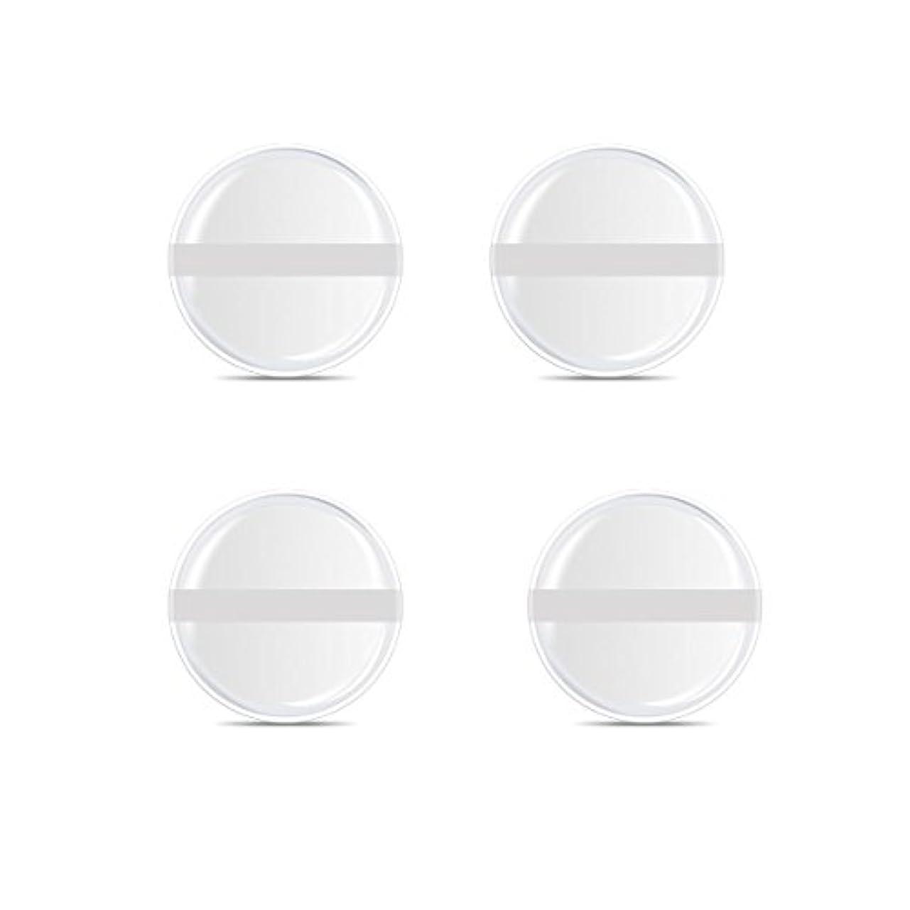 概念心理学消費シリコンパフ 帯付き メイクスポンジ ゲルパフ ゼリーパフ 清潔しやすい衛生 柔らかく 透明な 4枚入 (円形 4入り)