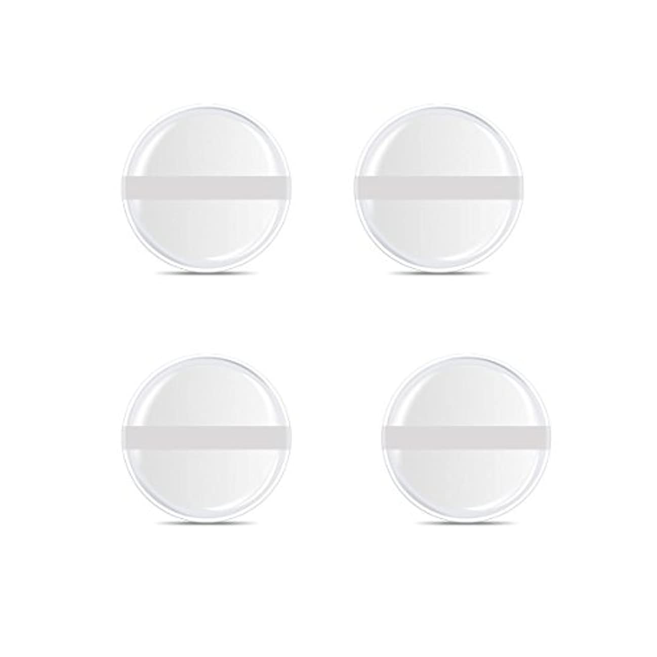 急速なやりがいのある遵守するシリコンパフ 帯付き メイクスポンジ ゲルパフ ゼリーパフ 清潔しやすい衛生 柔らかく 透明な 4枚入 (円形 4入り)