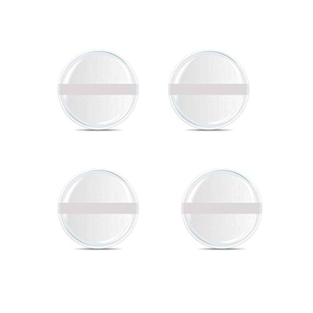つま先現実的マトロンシリコンパフ 帯付き メイクスポンジ ゲルパフ ゼリーパフ 清潔しやすい衛生 柔らかく 透明な 4枚入 (円形 4入り)