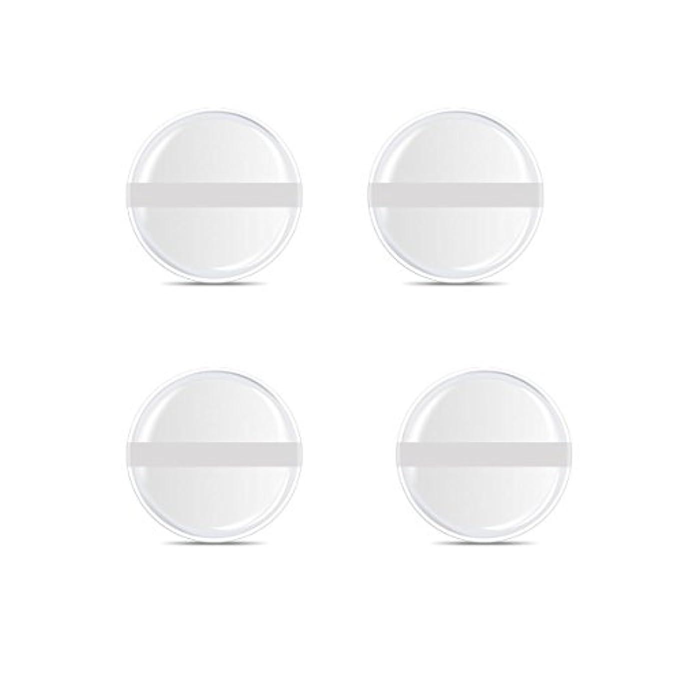 効能レガシーフィドルシリコンパフ 帯付き メイクスポンジ ゲルパフ ゼリーパフ 清潔しやすい衛生 柔らかく 透明な 4枚入 (円形 4入り)