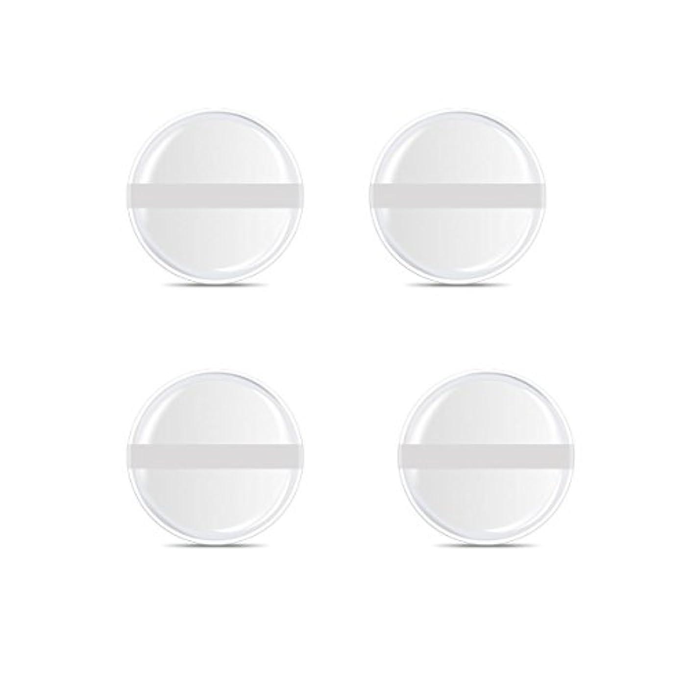 平らにする大宇宙計り知れないシリコンパフ 帯付き メイクスポンジ ゲルパフ ゼリーパフ 清潔しやすい衛生 柔らかく 透明な 4枚入 (円形 4入り)