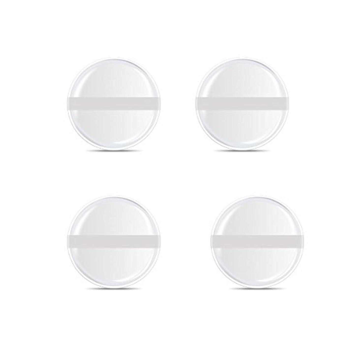 かどうかもっともらしい振るシリコンパフ 帯付き メイクスポンジ ゲルパフ ゼリーパフ 清潔しやすい衛生 柔らかく 透明な 4枚入 (円形 4入り)