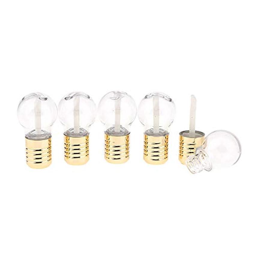 財布受動的永遠にB Blesiya 5本入り 電球の形 リップ容器 リップグロス 空詰め替えリップチューブ