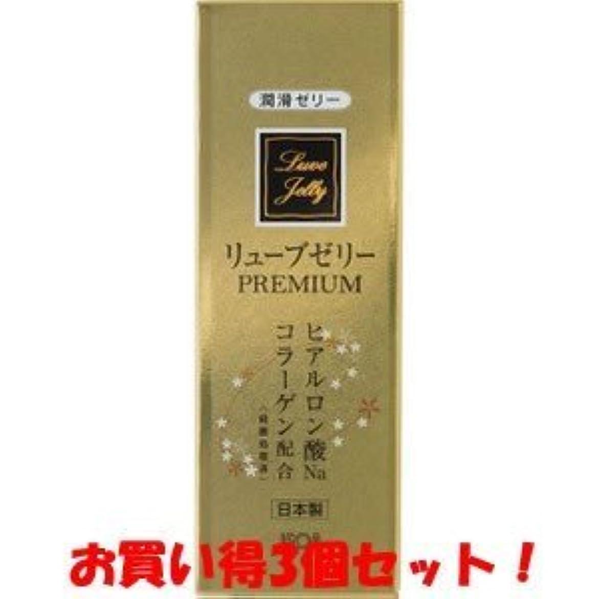 クリーム狐塩辛い(ジェクス)リューブゼリー プレミアム PREMIUM 55g(お買い得3個セット)