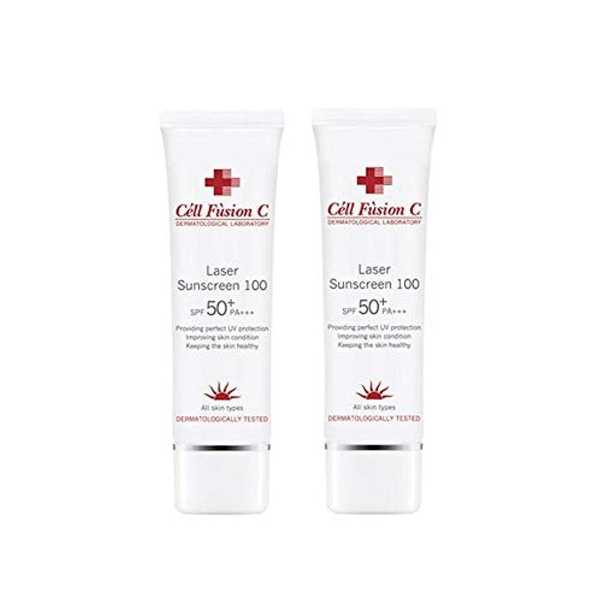 緊張する雷雨習熟度セルフュージョンCレーザーサンスクリーン100(SPF50+/ PA+++)50mlx2本セット韓国コスメ、Cell Fusion C Laser Sunscreen 100(SPF50+/ PA+++)50ml x 2ea Set Korean Cosmetics [並行輸入品]