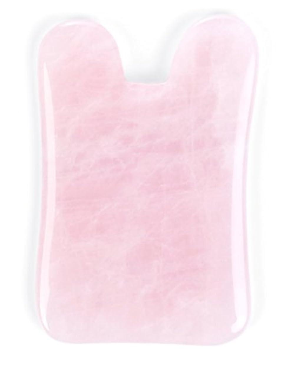 Echo & Kern ピンクローズクォーツかっさプレート マッサージプレートPink Rose Quartz Gua Sha Board-Therapeutic Relief and Skin Renewal -Premium...
