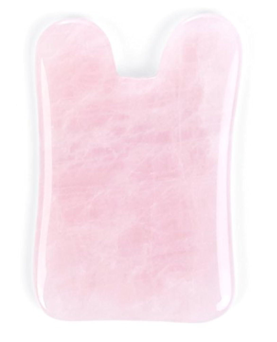 過激派くつろぎ非武装化Echo & Kern ピンクローズクォーツかっさプレート マッサージプレートPink Rose Quartz Gua Sha Board-Therapeutic Relief and Skin Renewal -Premium...