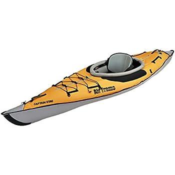 キャプテンスタッグ(CAPTAIN STAG) カヌー カヤック インフレータブルカヤック エアフレーム1 カヤック 1人乗り ポンプ・収納バッグ付属 オレンジ US-1002