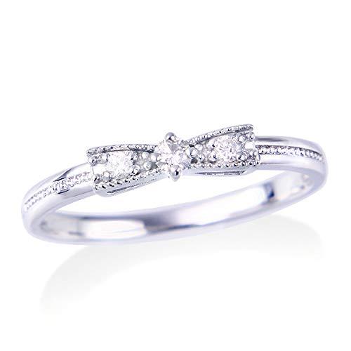 [ジュエリーツツミ]JEWELRY TSUTSUMI K10ホワイトゴールドダイヤモンドリング RFR508 15号