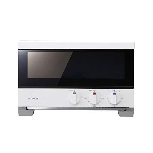 シロカ プレミアムオーブントースター すばやき(4枚) ST-4A251 ホワイト [瞬間発熱/ノンフライ調理/コンベクション/オーブン/惣菜の温め直し/扉の取り外し可/レシピ付]