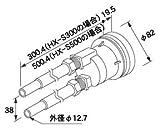 ノーリツ ガス給湯器 関連部材【HX-S500】 循環アダプターHX [0704967]