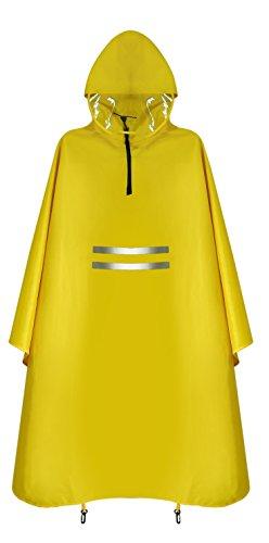 レインコート 雨濡れ防止 レインウェア 男女兼用 KINGTOP 自転車/バイク 収納袋付き フリーサイズ 防水 防汚 防油加工 メンズ レディース