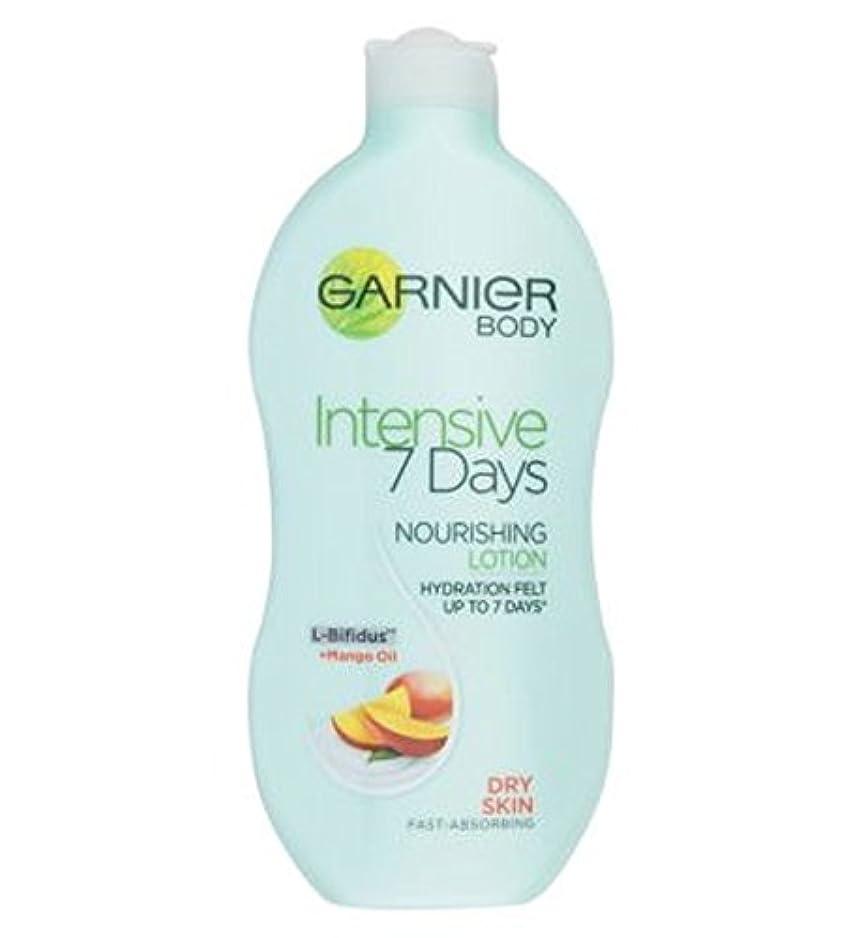 学期意図的ヘッジGarnier Intensive 7 Days Daily Body Lotion with nourishing Mango Oil for Dry Skin 400ml - 乾燥肌の400ミリリットルのための栄養マンゴーオイルとガルニエの集中7日間毎日ボディローション (Garnier) [並行輸入品]