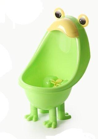 カエルさんで トイレトレーニング! 男の子用 おまる 小便器 ポッティ カラフル 『取り付け・使い方 簡単』 トイレ 練習 小 子供 【GreeParty】 (グリーン)