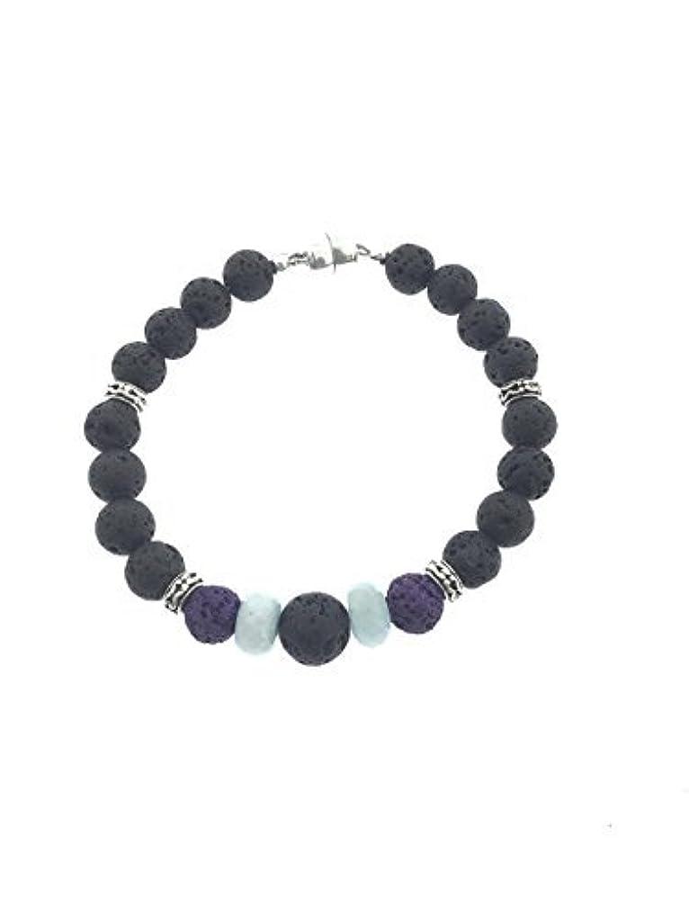 試用スリーブ夫婦Lava and Aquamarine Aromatherapy Essential Oil Diffuser Bracelet [並行輸入品]
