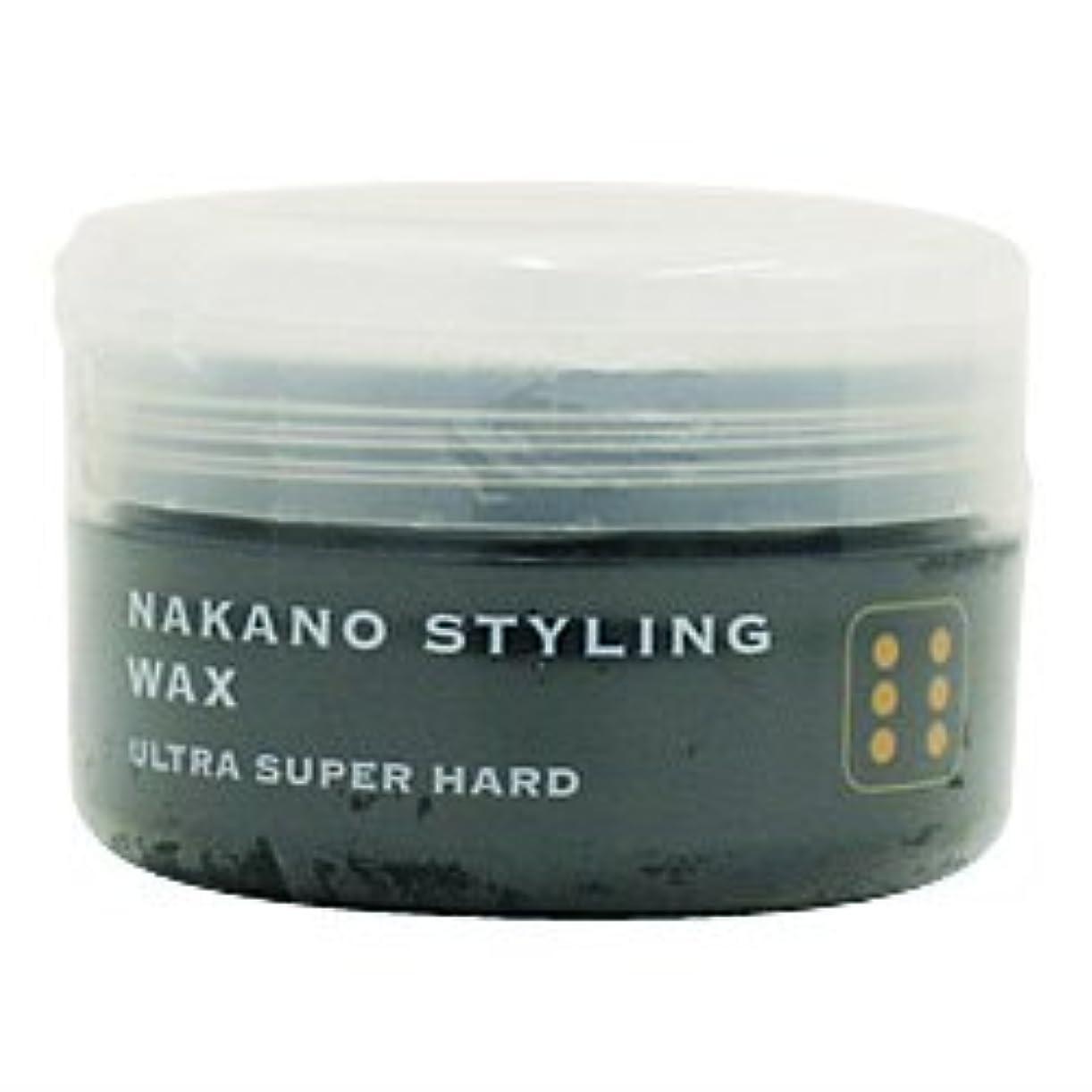 却下する郡国家ナカノ スタイリングワックス 6 ウルトラスーパーハード 90g 中野製薬 NAKANO