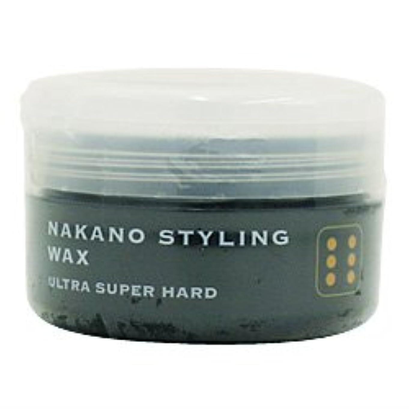 歴史航海の憤るナカノ スタイリングワックス 6 ウルトラスーパーハード 90g 中野製薬 NAKANO
