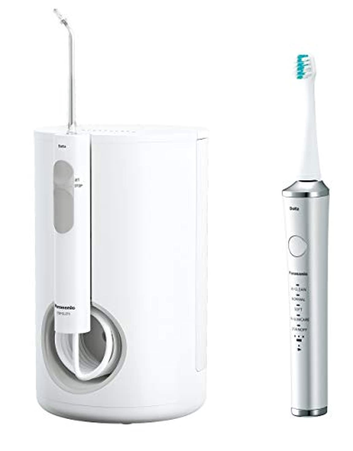 ナチュラル一般化する自己尊重パナソニック 口腔洗浄器 ジェットウォッシャー ドルツ 白 EW-DJ71-W + 電動歯ブラシ ドルツ セット