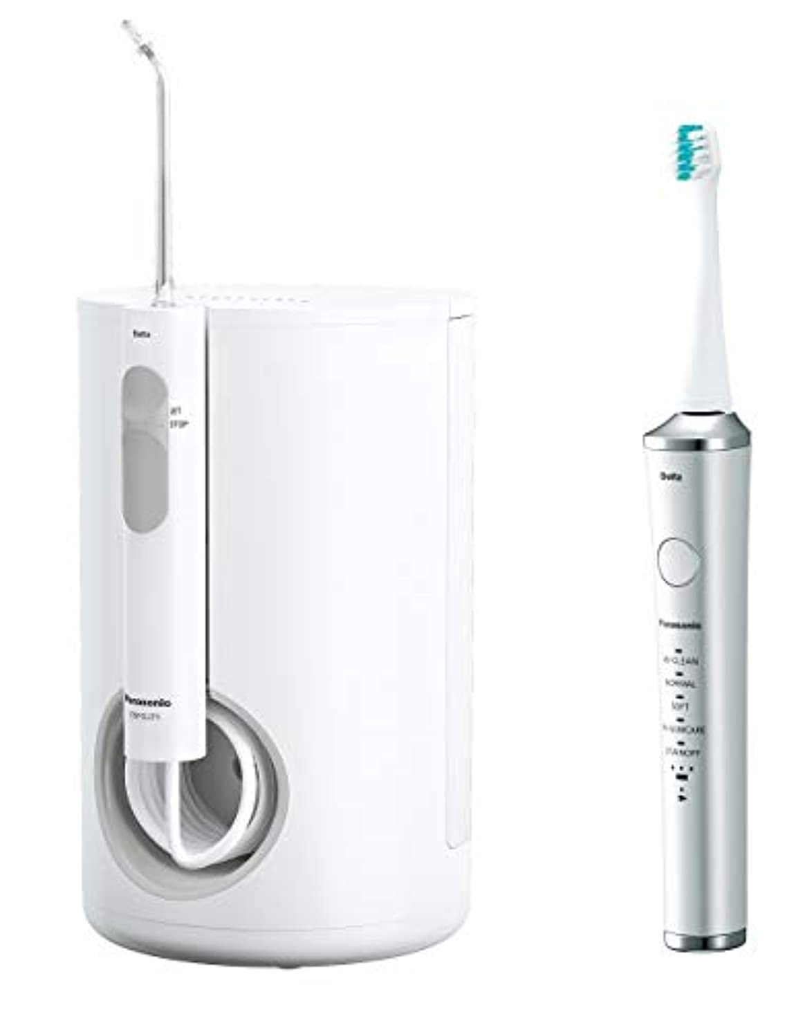 兵隊質素なやろうパナソニック 口腔洗浄器 ジェットウォッシャー ドルツ 白 EW-DJ71-W + 電動歯ブラシ ドルツ セット