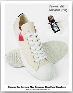 Converse Heart Low Sneakersローテクコンバース スニーカー プレイ コムデギャルソン