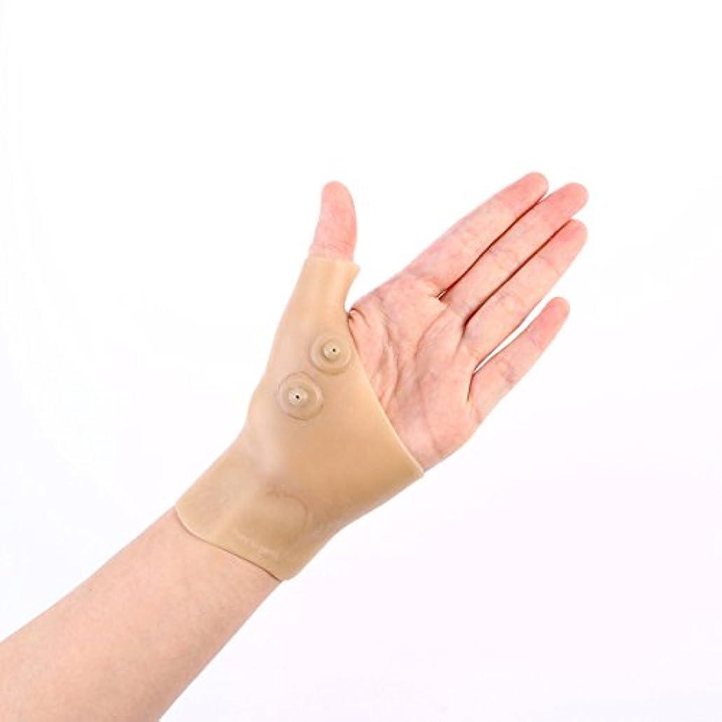コーナーあいまいさ偏見Healifty 首サポートブレース シリコンゲル 腱鞘炎 バネ指 手首の親指の痛みを和らげる 2個