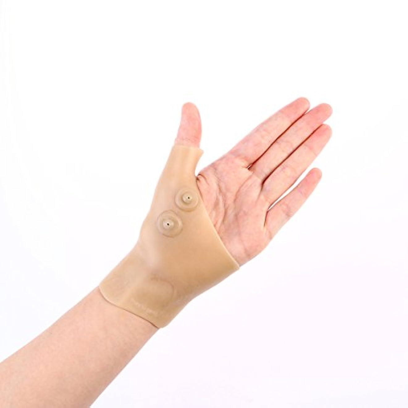 吹きさらしアマチュア天才Healifty 首サポートブレース シリコンゲル 腱鞘炎 バネ指 手首の親指の痛みを和らげる 2個