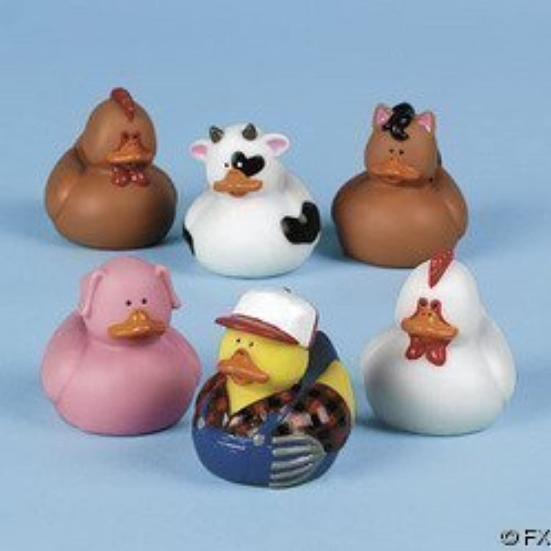 12 Farm Animal Rubber Duckies! by Fun Express 【You&Me】 [並行輸入品]