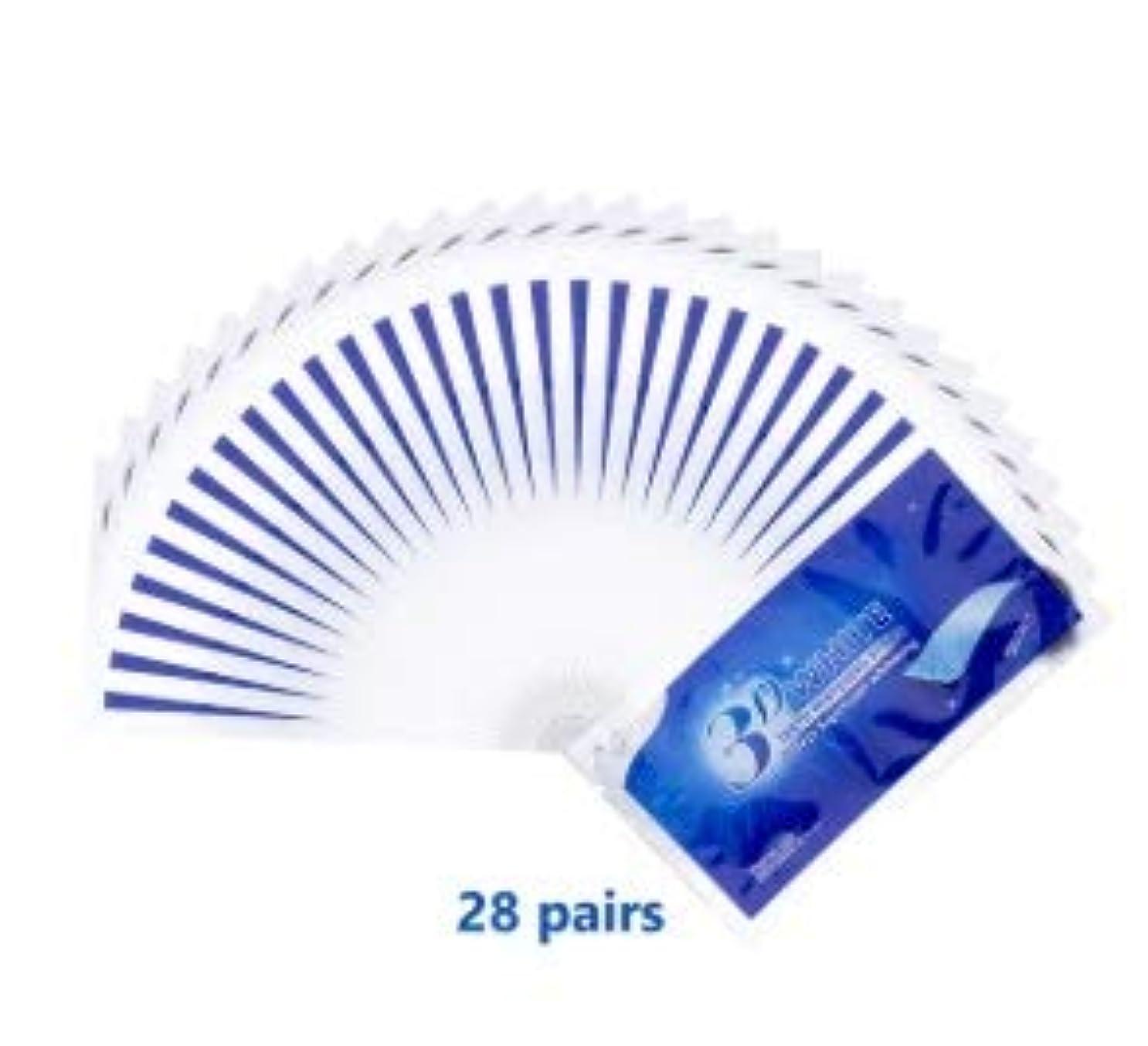 練習パスポート汚染されたIZMIRLI 14/28/56個3D Whitestrips White Gel Teeth Whitening Strips Oral Hygiene Care Double Elastic Teeth Strips Whitening Dental Bleaching Tools (28 Pouches - 56 Strips)