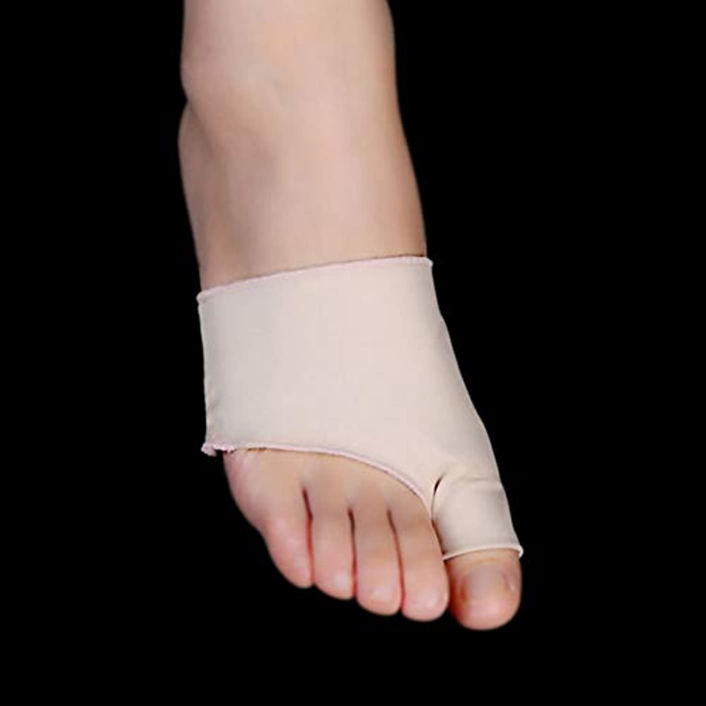 醜いしなやかな殺す1Pair Unisex Big Little Toe Separator Hallux Valgus Varus Straighteners Bunion Corrector Sock Feet Care Tool Bunion...