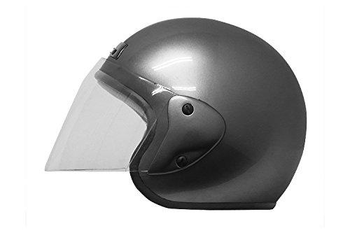 バイクパーツセンター  バイクヘルメット ジェット ガンメタリック 7203 FREE (頭囲 57cm~60cm未満) B003UOXCWG 1枚目