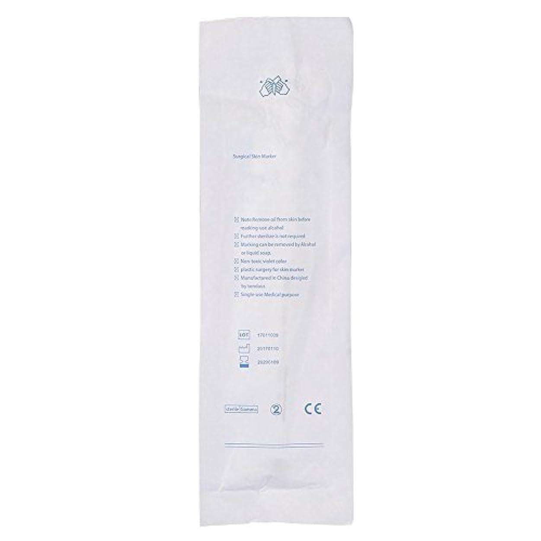 即席証拠湿度4種類タトゥーピアススキンマーカー外科マーカーペンスクライブポジショニング永久化粧ペン付き定規(#1)