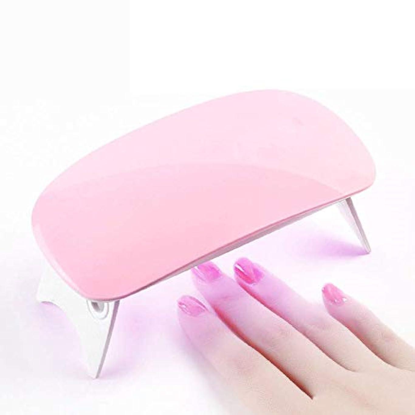キャンディー適応するパワーLEDネイルドライヤー UVライト 折りたたみ式手足とも使える LED 硬化ライト UV と LEDダブルライト ジェルネイル用 (ピンク)