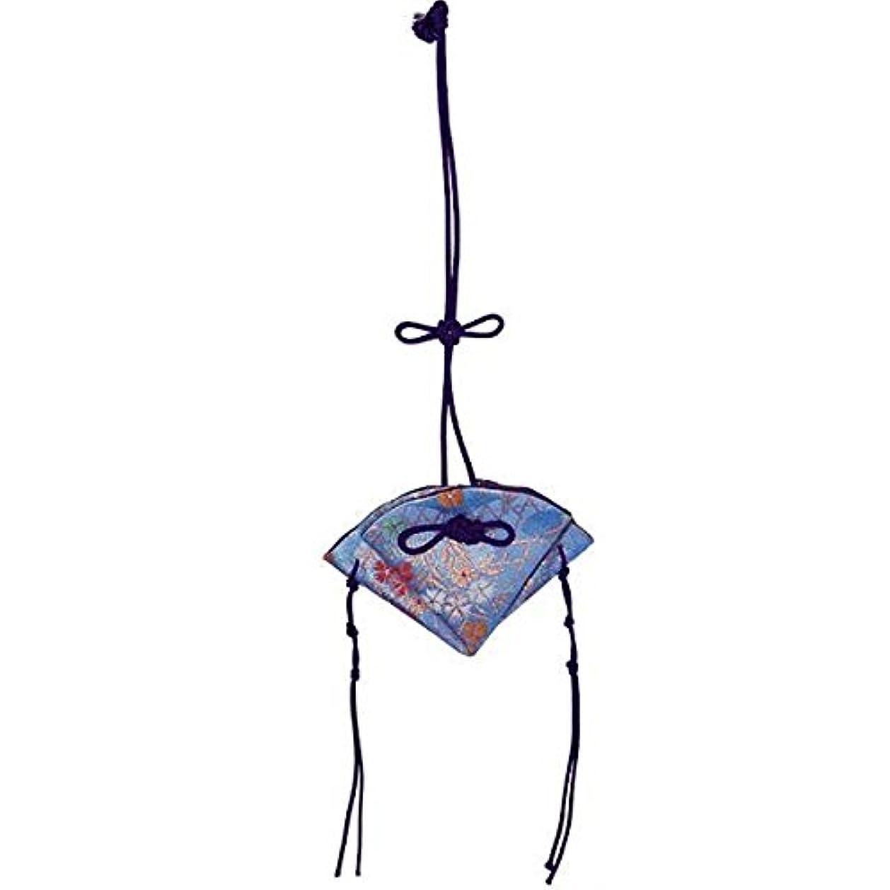 シャイニング自然枝掛香 扇 撫子 水色(紫紐)