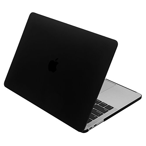 NEW 15インチMacBook Pro 2016 / 2017用 LENTION ハード ケース MacBook専用シェルカバー (マット・半透明・ブラック)