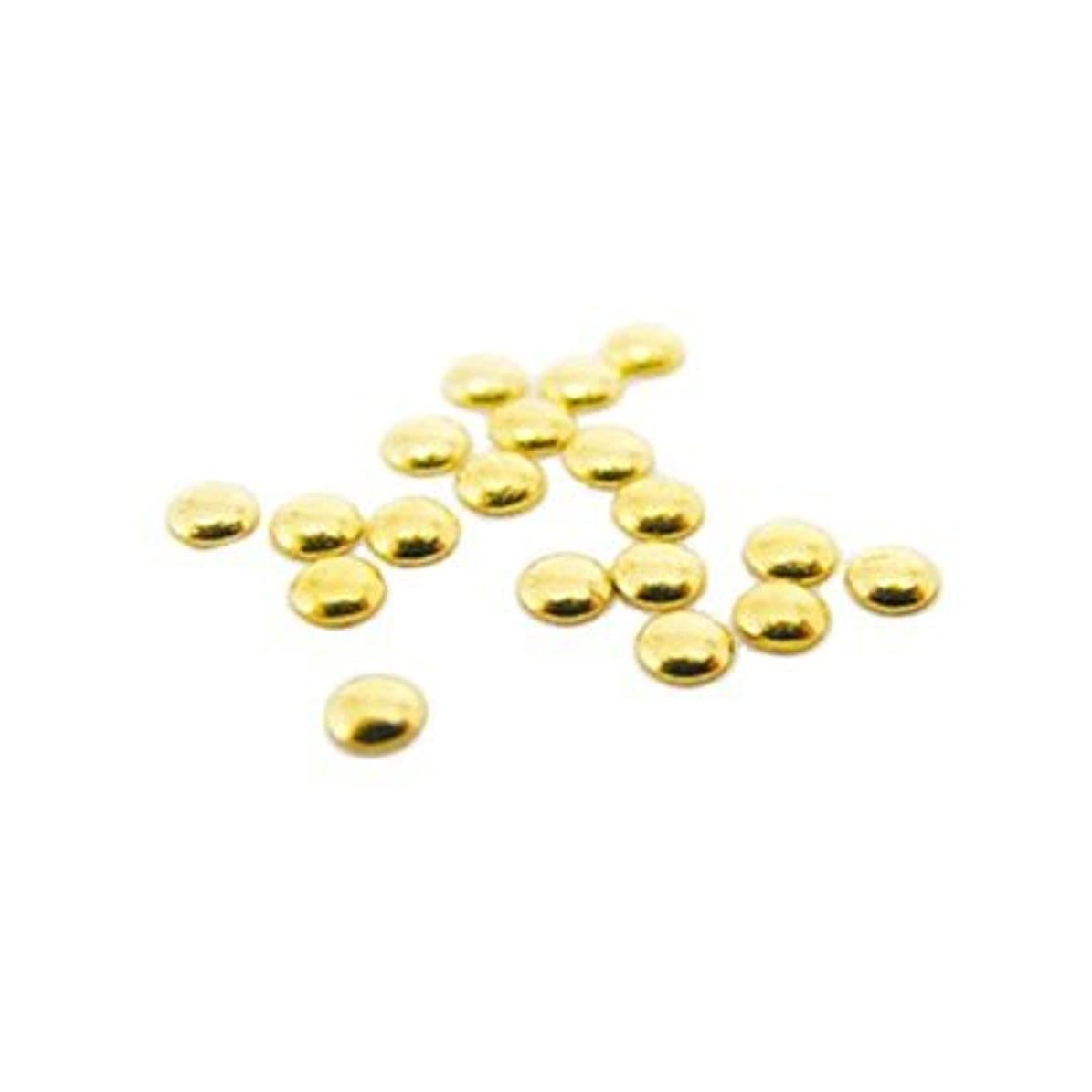 安定しました不快な体操ピアドラ スタッズ 2.0mm 50P ゴールド