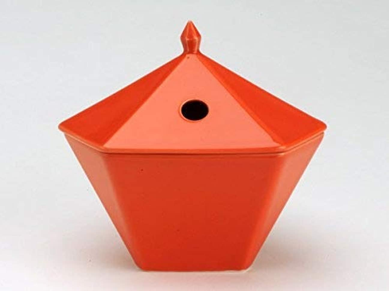 粘土負担保存する縁香炉 橙