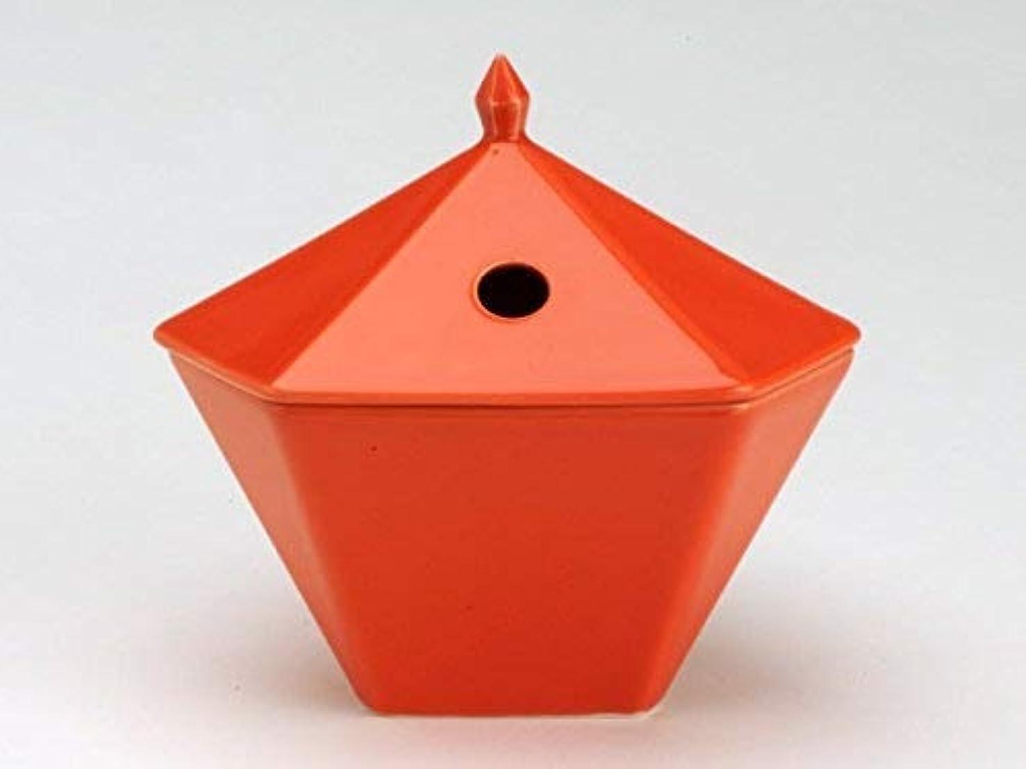 スティックスリット豊かな縁香炉 橙