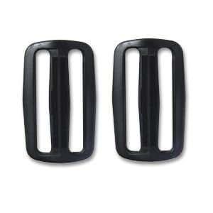 Nifco ニフコ プラスチックパーツ テープアジャスター テープ長さ調整パーツ 2個入り 50mm幅テープ用 ブラック T-50 バッグ アウトドア用