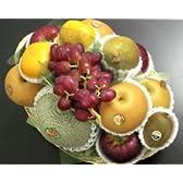 □【築地の某高級果物店の職人が作る】 季節(10月)のフルーツバスケット(フルーツ7種入り)