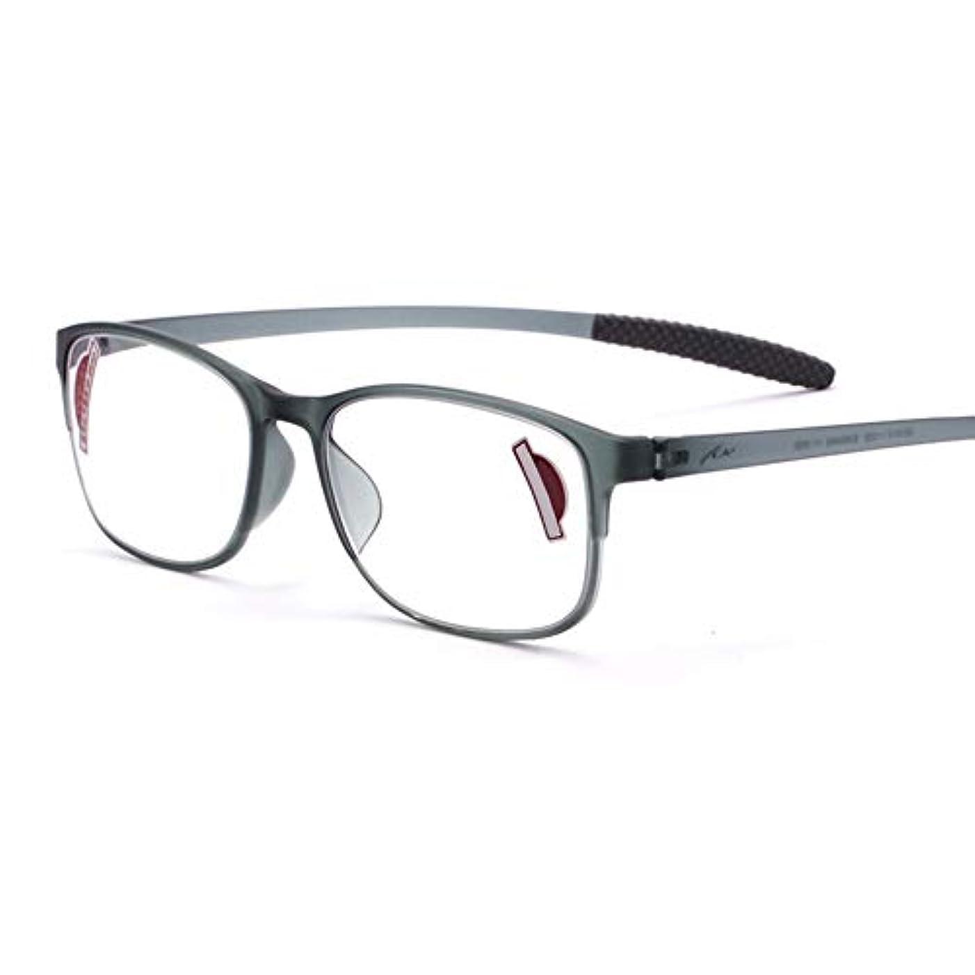 老眼鏡 ケース付き ユニセックス アンチブルーライト 透明レンズ アンチUV ビンテージ アイウェア コンピューターメガネ ゲームメガネ 1.0?3.0の強さ にとって おとこ 女性 読者
