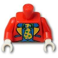 レゴブロックパーツ トルソー - クラウンスーツ:[Red / レッド]【並行輸入品】