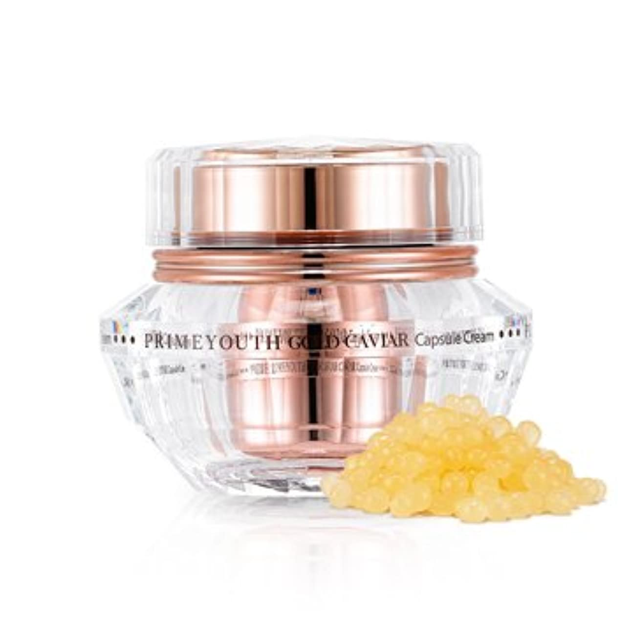 歴史家ハッチ音声学[New] Holika Holika Prime Youth Gold Caviar Capsule Cream 50g/ホリカホリカ プライム ユース ゴールド キャビア カプセル クリーム 50g