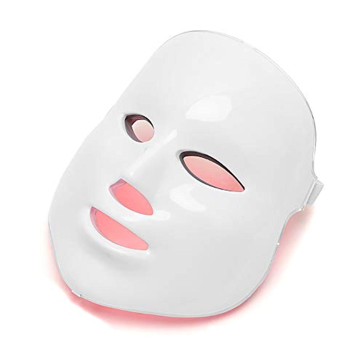 音節執着写真のフェイス光線療法フェイシャルスキンケアマスクLED 7色フェイシャルマスク、スキントーニングしわのためのLEDライトは調色、しわにきび治療を締め付け、アンチエイジングを削除します