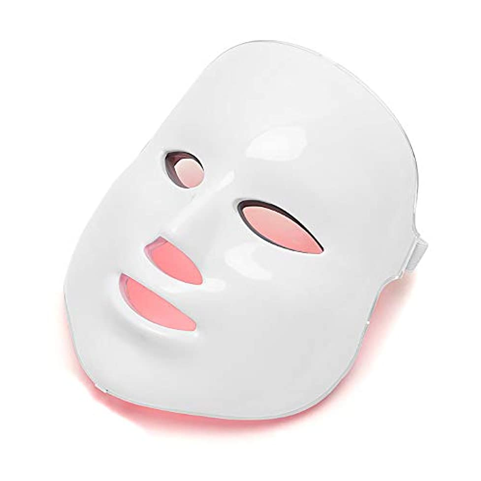 農学乗り出す尋ねるフェイス光線療法フェイシャルスキンケアマスクLED 7色フェイシャルマスク、スキントーニングしわのためのLEDライトは調色、しわにきび治療を締め付け、アンチエイジングを削除します