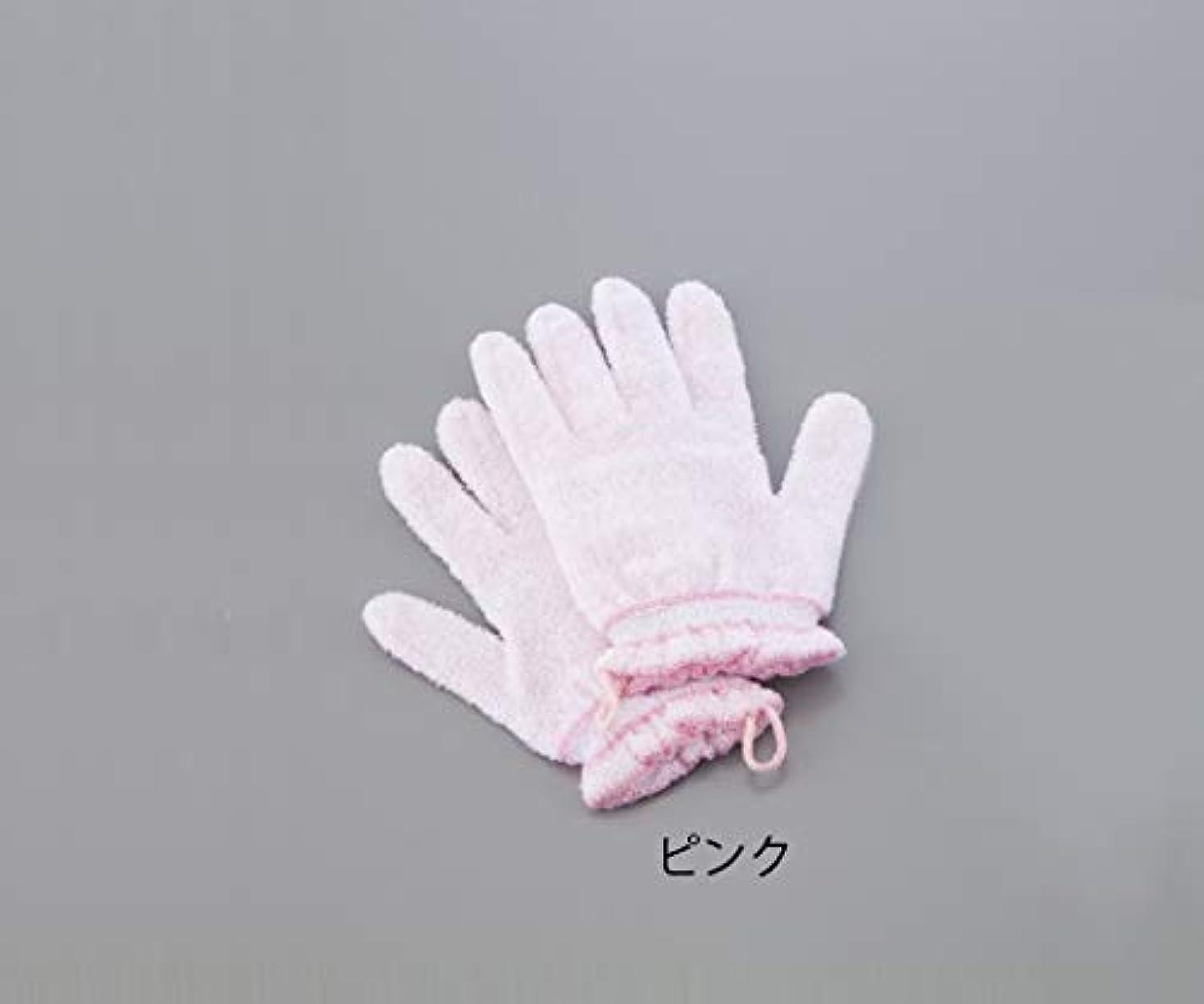 しかしながらバンガロー推進力0-4015-01浴用手袋(やさしい手)ピンク