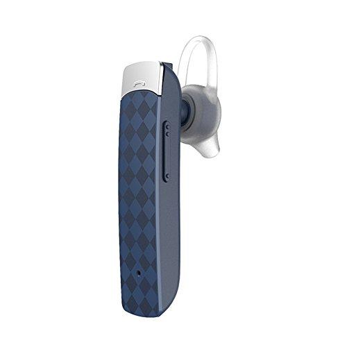 X-LIVE Bluetoothイヤホン4.1 ブルートゥース ヘッドセット ワイヤレス イヤホン 片耳 小型 軽量 マイク付 ヘッドホン ハンズフリー 通話 高音質 運転中 車内 電話 (ダークブルー)