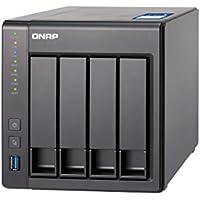 QNAP TS-431X 専用OS QTS搭載 Cortex-A15 dual-core 1.7Ghz CPU 2GBメモリ 10GbE SFP+ポート内蔵 4ベイNAS 2年保証