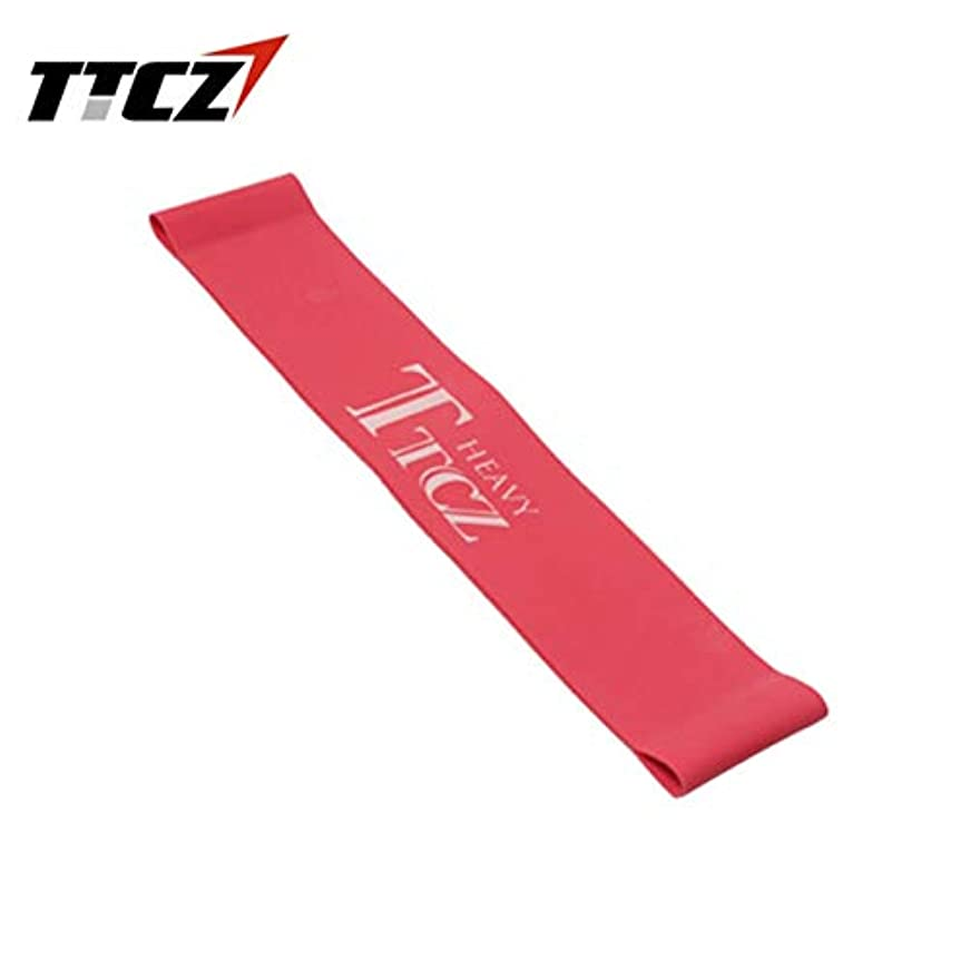 しつけ明るくするバルセロナ弾性張力抵抗バンドエクササイズワークラバーループバンドボディービル筋肉トレーニングエキスパンダーヨガフィットネス機器 - 赤